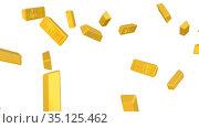 Золотые слитки высшей пробы. Стоковая анимация, видеограф WalDeMarus / Фотобанк Лори