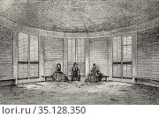 Interior of the house built on the stump of a large tree, 1865-66... Стоковое фото, фотограф Jerónimo Alba / age Fotostock / Фотобанк Лори