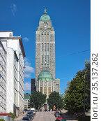 Церковь Каллио в Хельсинки, Финляндия (2013 год). Стоковое фото, фотограф Михаил Марковский / Фотобанк Лори