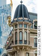 Beautifully decorated stucco facades of building. Стоковое фото, фотограф Константин Лабунский / Фотобанк Лори