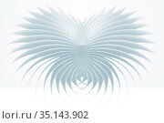 Abstract parametric geometric pattern, 3d render. Стоковая иллюстрация, иллюстратор EugeneSergeev / Фотобанк Лори