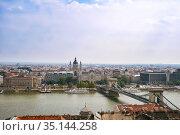 Budapest cityscape with views of Basilica (2007 год). Стоковое фото, фотограф Юлия Бабкина / Фотобанк Лори
