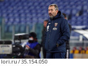 Marco Giampaolo Head coach Torino during the match ,Rome, ITALY-17... Редакционное фото, фотограф Federico Proietti / Sync / AGF/Federico Proietti / / age Fotostock / Фотобанк Лори