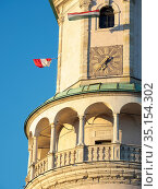 Firewatch Tower (Tueztorony), the landmark of Sopron at main square... Стоковое фото, фотограф Martin Zwick / age Fotostock / Фотобанк Лори