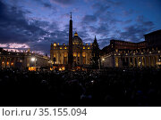 Inauguration of the Vatican's Christmas tree and crib in St. Peter... Стоковое фото, фотограф Antoine Mekary / Godong / age Fotostock / Фотобанк Лори