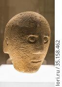 Dublin, Ireland - Feb 20th, 2020: Stone head of Corleck Hill, Cavan... Стоковое фото, фотограф Juan García Aunión / age Fotostock / Фотобанк Лори