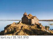 Hayravank monastery near the village of Hayravank, on the Western shore of lake Sevan in the Gegharkunik province. Armenia (2018 год). Стоковое фото, фотограф Наталья Волкова / Фотобанк Лори