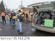 Detroit, Michigan USA - 19 December 2020 - At St. Hedwig Catholic... Редакционное фото, фотограф Jim West / age Fotostock / Фотобанк Лори