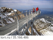 View point of The Observatory Of Pic Du Midi De Bigorre, Hautes Pyrenees... Редакционное фото, фотограф Sergi Reboredo / age Fotostock / Фотобанк Лори