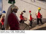 Coliblancos, white tailed jews holy week procession, BAENA, CORDOBA... (2008 год). Редакционное фото, фотограф Candy Lopesino / age Fotostock / Фотобанк Лори