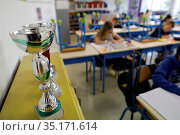 Primary school in Montrouge, France. Стоковое фото, фотограф Philippe Lissac / Godong / age Fotostock / Фотобанк Лори