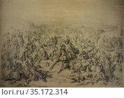 Battle of Ucles, fought during Reconquista between Christians and... Стоковое фото, фотограф Juan García Aunión / age Fotostock / Фотобанк Лори