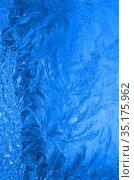 Обледеневшее стекло. Стоковое фото, фотограф Наталья Горкина / Фотобанк Лори
