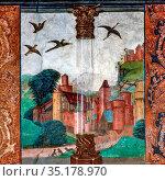 Art, Medieval Italian art, Issogne Castle, Baronial Hall, title of... Стоковое фото, фотограф Molteni & Motta / age Fotostock / Фотобанк Лори