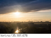 Top view of the new urban areas. Стоковое фото, фотограф Юрий Бизгаймер / Фотобанк Лори