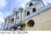 La Merced Church in Antigua Guatemala.Guatemala, Стоковое фото, фотограф Николай Коржов / Фотобанк Лори