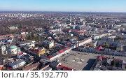 Picturesque view of Skierniewice cityscape, central Poland. Стоковое видео, видеограф Яков Филимонов / Фотобанк Лори