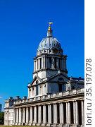 England, London, Greenwich, Old Royal Navy College, The Chapel Building. Стоковое фото, фотограф Steve Vidler / age Fotostock / Фотобанк Лори