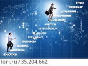 Business people climbing carrer ladder success factors. Стоковое фото, фотограф Elnur / Фотобанк Лори