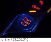 Engine power button and gearshift lever. Стоковое фото, фотограф Юрий Бизгаймер / Фотобанк Лори