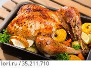 Garnished turkey. High quality photo. Стоковое фото, фотограф Яков Филимонов / Фотобанк Лори