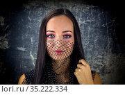Young girl with beautiful make-up close-up. Стоковое фото, фотограф Татьяна Ляпи / Фотобанк Лори