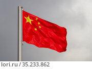 China flag. Стоковое фото, фотограф Илья Галахов / Фотобанк Лори
