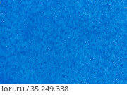 rime frost on blue fabric material in an early frosty morning. Стоковое фото, фотограф Акиньшин Владимир / Фотобанк Лори