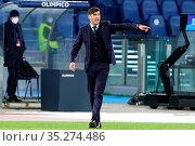 Paulo Fonseca head coach Roma during the match ,Rome, ITALY-31-01... Редакционное фото, фотограф Federico Proietti / Sync / AGF/Federico Proietti / / age Fotostock / Фотобанк Лори