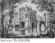 Chateau de chenonceaux1434-1493, histoire populaire de France par... Редакционное фото, фотограф Louis Bertrand / age Fotostock / Фотобанк Лори