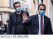 Italian outgoing Foreign Minister and one of the Five Star Movement... Редакционное фото, фотограф Fotia/AGF/Francesco Fotia / age Fotostock / Фотобанк Лори