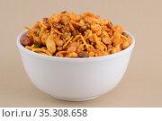 Indian Snacks : Mixture (roasted nuts with salt pepper masala, pulses... Стоковое фото, фотограф Dipak Chhagan Shelare / easy Fotostock / Фотобанк Лори