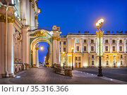 Зимний Дворец в Санкт-Петербурге. Стоковое фото, фотограф Baturina Yuliya / Фотобанк Лори