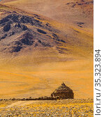 Exterior view of stone shelter building at arid landscape, la rioja... Стоковое фото, фотограф Zoonar.com/Daniel Ferreira-Leites Ciccarino / easy Fotostock / Фотобанк Лори