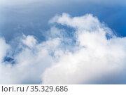 Beautiful thunderstorm clouds in sky. Стоковое фото, фотограф А. А. Пирагис / Фотобанк Лори