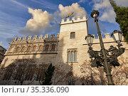 La Lonja de la seda, Valencia, Comunidad Valenciana, España. Стоковое фото, фотограф Javier Larrea / age Fotostock / Фотобанк Лори