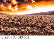 Devils Golf Course in the Death Valley, California, United States... Стоковое фото, фотограф Zoonar.com/Marc Schmerbeck / easy Fotostock / Фотобанк Лори