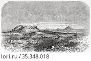 Saqqara necropolis, archeological remains. Ancient Egypt History. ... Редакционное фото, фотограф Jerónimo Alba / age Fotostock / Фотобанк Лори