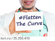 Flatten The Curve hashtag stay at home Corona virus coronavirus disease... Стоковое фото, фотограф Markus Mainka / easy Fotostock / Фотобанк Лори
