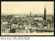Europa, Deutschland, Hamburg, Blick über die Stadt mit Sankt Katharinen... Редакционное фото, фотограф Historisches Auge Ralf Feltz / age Fotostock / Фотобанк Лори