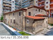 Holy Church of St. Athanasius in Thessaloniki city center, Greece. Стоковое фото, фотограф Zoonar.com/Boris Breytman / easy Fotostock / Фотобанк Лори