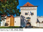 Castle in Kezmarok town, Slovakia. Castle was mentioned for the first... Стоковое фото, фотограф Zoonar.com/Boris Breytman / easy Fotostock / Фотобанк Лори