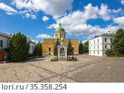 Danilov Monastery (also Svyato-Danilov Monastery or Holy Danilov Monastery), to have been founded in the late 13th century. Moscow, Russia (2017 год). Редакционное фото, фотограф Владимир Журавлев / Фотобанк Лори