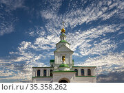 Danilov Monastery (also Svyato-Danilov Monastery or Holy Danilov Monastery), to have been founded in the late 13th century. Moscow, Russia (2017 год). Стоковое фото, фотограф Владимир Журавлев / Фотобанк Лори