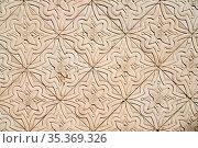 Alte Jugendstil Fliesen als Kachel Muster Hintergrund an Wand. Стоковое фото, фотограф Zoonar.com/Robert Kneschke / age Fotostock / Фотобанк Лори