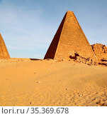 In africa sudan napata karima the antique pyramids of the black pharaohs... Стоковое фото, фотограф Zoonar.com/lkpro / easy Fotostock / Фотобанк Лори