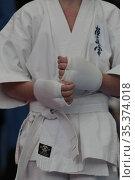 Соревнования по карате, руки спортсмена. Редакционное фото, фотограф Дмитрий Неумоин / Фотобанк Лори