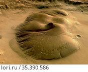 MARS Nicholson Crater -- 2004 -- The HRSC on board ESA's Mars Express... Редакционное фото, фотограф Jonathan William Mitchell / age Fotostock / Фотобанк Лори