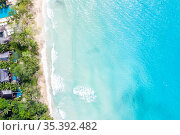 Seychelles beach Mahé Mahe island sea copyspace vacation drone view... Стоковое фото, фотограф Markus Mainka / easy Fotostock / Фотобанк Лори
