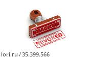 Revoked. The stamp and an imprint. Стоковая анимация, видеограф WalDeMarus / Фотобанк Лори